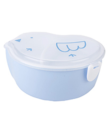 Lunch Box With Spoon Chick Shaped - Blue