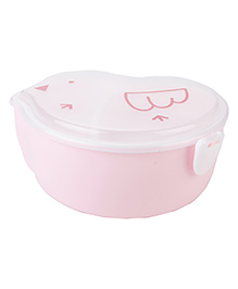 Lunch Box With Spoon Chick Shaped - Pink
