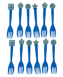 Funcart On The Go Theme Fork Pack Of 6 - Blue