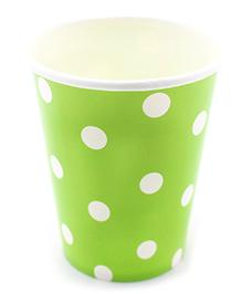 Funcart Green Polka Dot Party Beverage Cups - 9 Oz