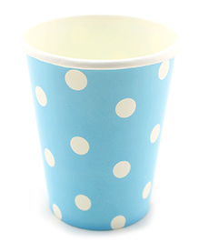 Funcart Blue Polka Dot Party Beverage Cups - 9 Oz