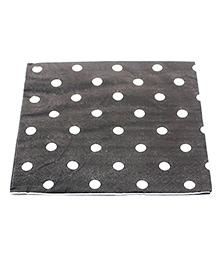 Funcart Party Paper Napkins Polka Dot Black - Pack Of 20