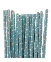Funcart Polka Dot Paper Straws - Blue