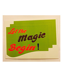 Funcart Let The Magic Begin Photo Booth Board - Multicolor