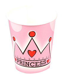 Funcart Princess Crown Theme Paper Cup - Pink