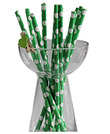 Funcart Small Polka Dot Paper Straws - Green