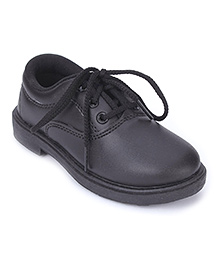 G & D School Shoes Tie Up Closure - Black