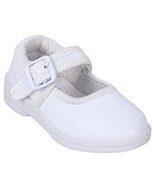 G & D School Shoes - White