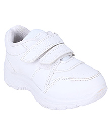 G & D School Shoes - White