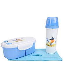 Lunch Box And Water Bottle With Bag - Blue - 799350
