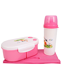 Lunch Box And Water Bottle With Bag - Pink - 799353