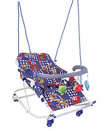 New Natraj Rocko Swing With Play Toys Giraffe Print - Blue