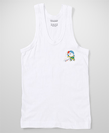 Doraemon Printed Vest - White