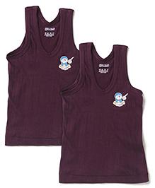 Doraemon Sleeveless Printed Vest Set of 2 - Brown