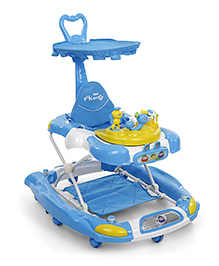 Musical Baby Walker With Play Tray - Blue