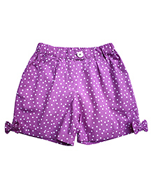 Campana Shorts Polka Dots Print - Purple