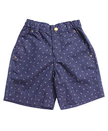 Campana Shorts All Over Print - Blue