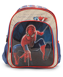 Marvel Spider Man School Backpack Blue And Silver - 14 inches