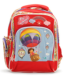 Dora Fly With Me Backpack Red - 14 inches