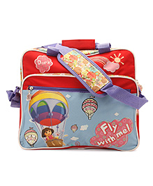 Dora Fly With Me Fashion Bag - Red And Blue