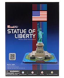 CubicFun Statue Of Liberty USA Puzzle Multicolor - 39 Pieces