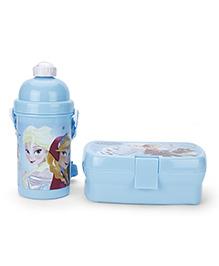 Disney Frozen Lunch Box And Water Bottle Set - Blue