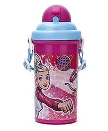 Barbie Princess Power Water Bottle Blue And Pink -  500 Ml