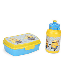 Minions Value Set Sandwich Box & Sipper Water Bottle - Yellow