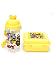 Angry Bird School Lunch Box And Water Bottle - Yellow
