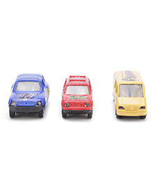 Playmate Toy Cars Set Of 3 - Blue Red Yellow