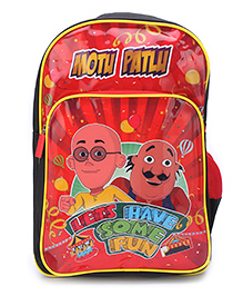 Motu Patlu Lets Have Some Fun Backpack Red - 18 inches