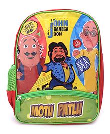 Motu Patlu John Banega Don Print Backpack - 14 inches