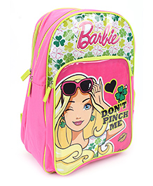 Barbie School Backpack Pink And Green - 18 inches