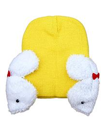 Pikaboo Rabbit Baby Cap - Yellow