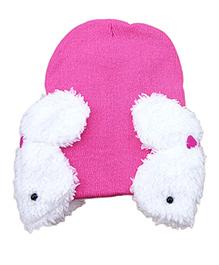 Pikaboo Rabbit Baby Cap - Pink