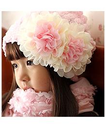 Pikaboo Chiffon Flower Hat - Pink