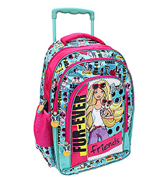 Barbie Furever School Trolley Bag Pink And Blue - 18 inches