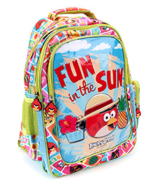 Angry Birds Fun In The Sun Print School Backpack - 14 inches