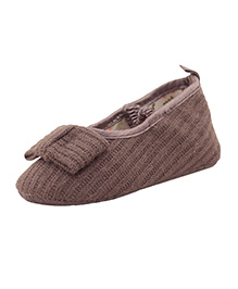 Pikaboo Woven Cotton Smart Prewalkers - Brown