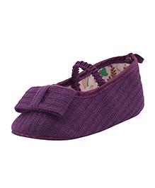 Pikaboo Woven Cotton Smart Prewalkers - Purple