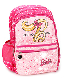 Barbie School Backpack Pink - 17 inches