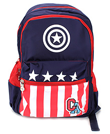 Captain America Shield Backpack Navy - 17 inches