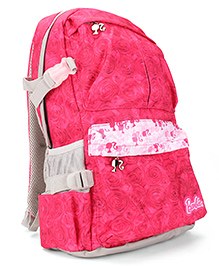 Barbie Rose Print School Backpack Pink - 19 inches