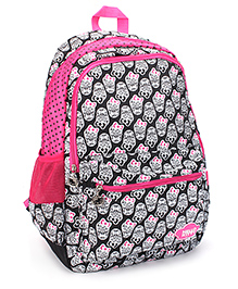 Hello Kitty School Bag Skull Print Black & Pink - 19 Inches