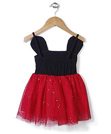 Superfie Stylish Sleeveless Dress - Black & Red