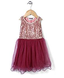 Superfie Sequin Party Dress - Maroon