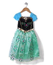 Superfie Square Neck Princess Dress - Green