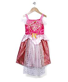 Superfie Glitter Princess Dress - Hot Pink