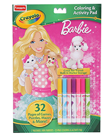 Funskool Crayola Barbie Coloring Activity Pad - Multicolor