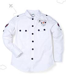 Flight Deck by Babyhug Full Sleeves Shirt - White